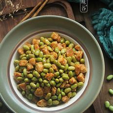 辣炒毛豆鸡丁的做法
