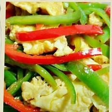 青椒炒鸭蛋