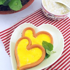 心形香肠煎蛋