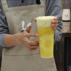 小兔奔跑奶茶教程:喜茶满杯金菠萝的做法