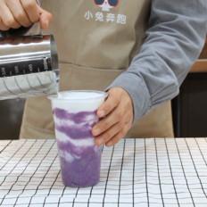 冬季网红热饮紫薯脏脏茶的做法——小兔奔跑奶茶教程冬季网红热饮紫薯脏脏茶的做法——小兔奔跑奶茶教程