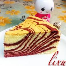 红斑马纹戚风蛋糕