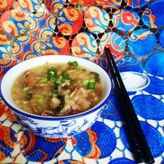 咸骨菜干粥