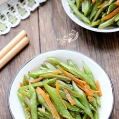 胡萝卜炒刀豆
