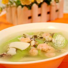 鲜甜清爽的什锦海鲜丝瓜汤
