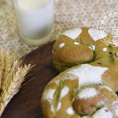 欧式抹茶红豆面包