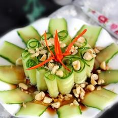 沙拉汁凉拌黄瓜卷