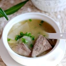 白萝卜猪肝汤