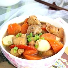 胡萝卜炖鸭块
