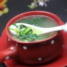 菠菜肉片汤