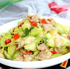 西葫芦炒肉片