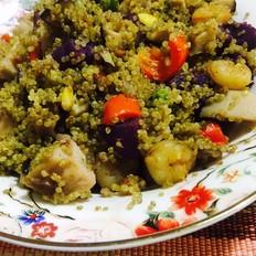 五彩藜麦紫薯饭