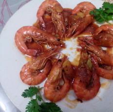 茄汁九节虾的做法