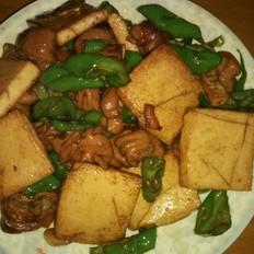 千页豆腐炒肥肠