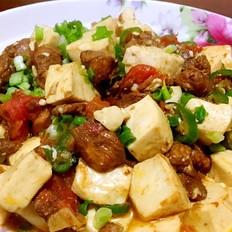 鸡肉烧豆腐