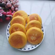南瓜豆沙发面饼