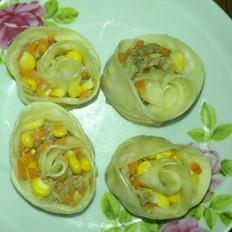 玉米胡萝卜玫瑰肉卷