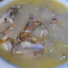 冬瓜炖瓦氏华子鱼汤