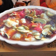 番茄口蘑烩煮红福鱼