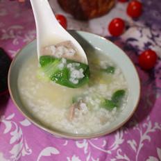青菜猪肝粥