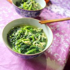 菊花叶鸡蛋汤
