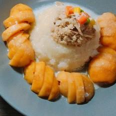 水果椰汁糯米饭