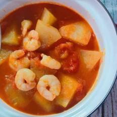 番茄虾仁炖冬瓜