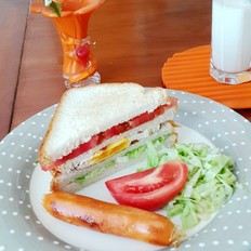 简单早餐三明治