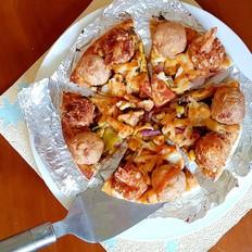 凤尾虾鸡肉球披萨