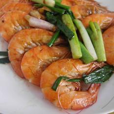 葱香虾的做法