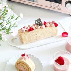 玫瑰蔓越莓豆乳蛋糕卷