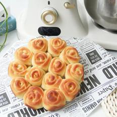 高颜值又好吃 | 玫瑰花挤挤面包