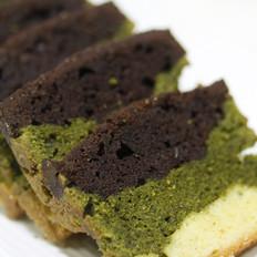 三色大理石重油蛋糕