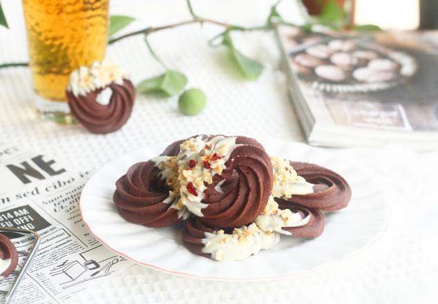 超酥脆巧克力花环曲奇,香得不要不要哒~的做法