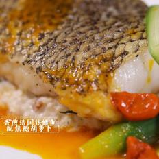 香煎法国银鳕鱼配焦糖胡萝卜