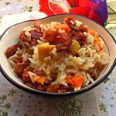 腊味红薯焖饭
