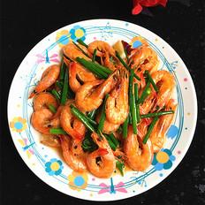 韭菜苔烧海虾