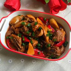 杏鲍菇焖鸭肉