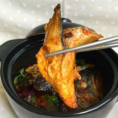 酱焖三文鱼头
