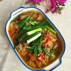 剁椒蒸香菇土鸡