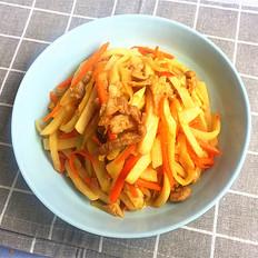 剁椒肉丝炒凉薯