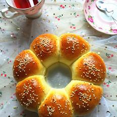 蜜豆花朵面包