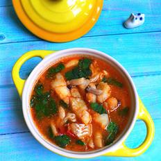 海鲜菇煮狭鳕鱼柳