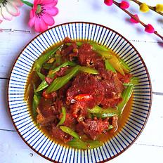 芹菜炒卤牛肉