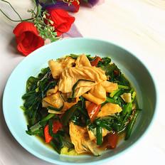 韭菜炒油豆皮