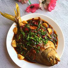 黄豆酱烧鲳鱼