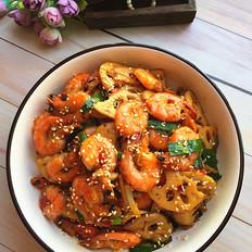 麻辣藕片虾