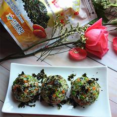 明太鱼籽海苔饭团