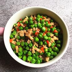 豌豆米炒肉末