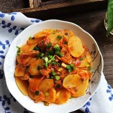 土豆炒辣白菜